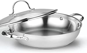 Cooks Standard 12-Inch/30cm Classic Stainless Steel Everyday Chef's Stir Fry Pan