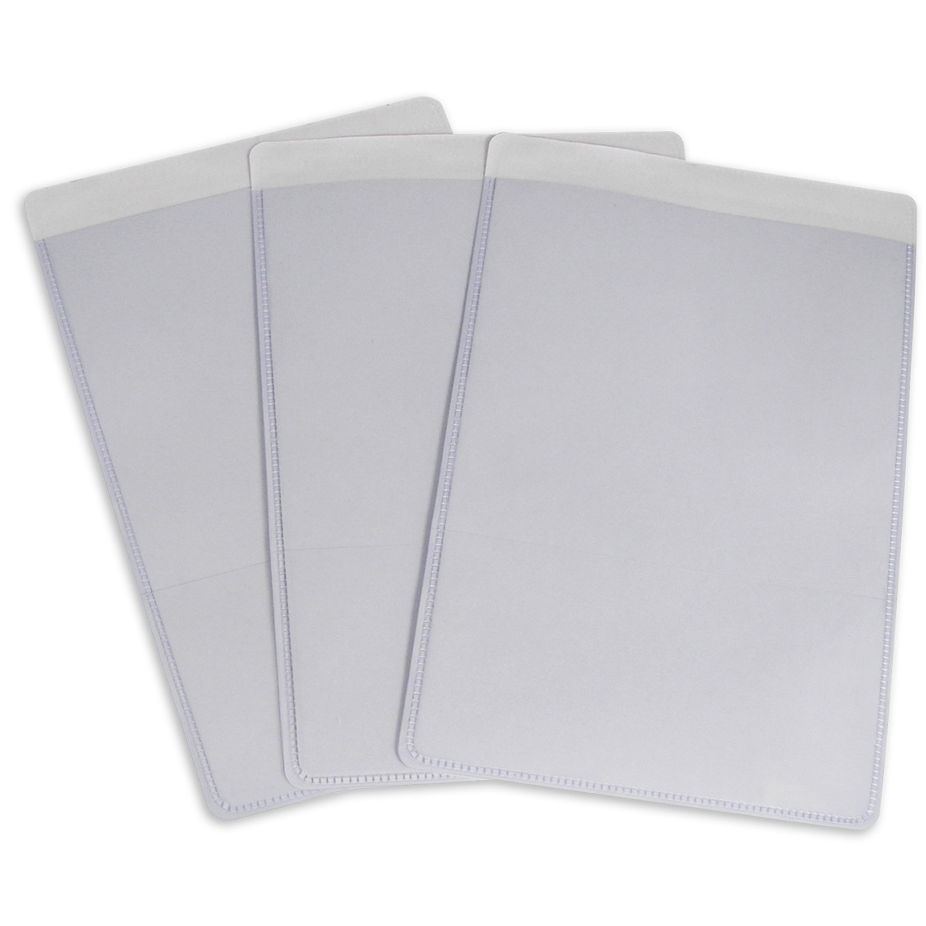C-Line Self-Adhesive Shop Ticket Holders, 5 x 8 Inches, Clear, 50 per Box (70058) by C-Line