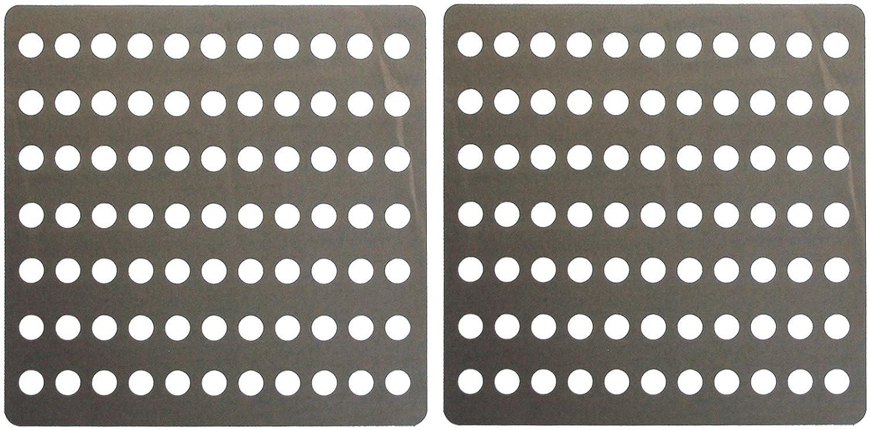 coperchi per tramoggia Protezione per drenaggio Set di 2 coperture per Scarico Great Ideas in Acciaio Inox antiruggine