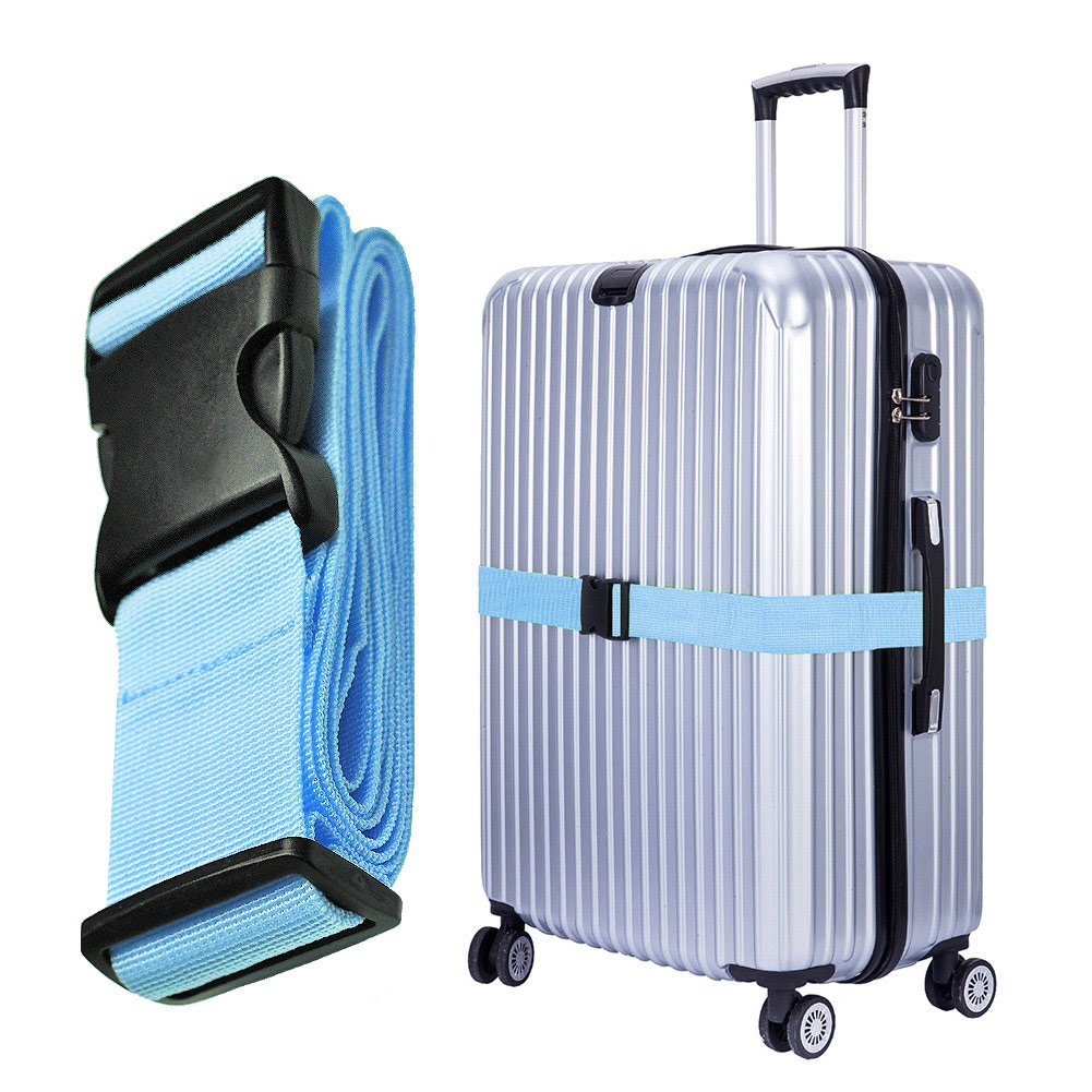 Hibate Adjustable Travel Luggage Straps Suitcase Strap Belts - 4 Color Choice