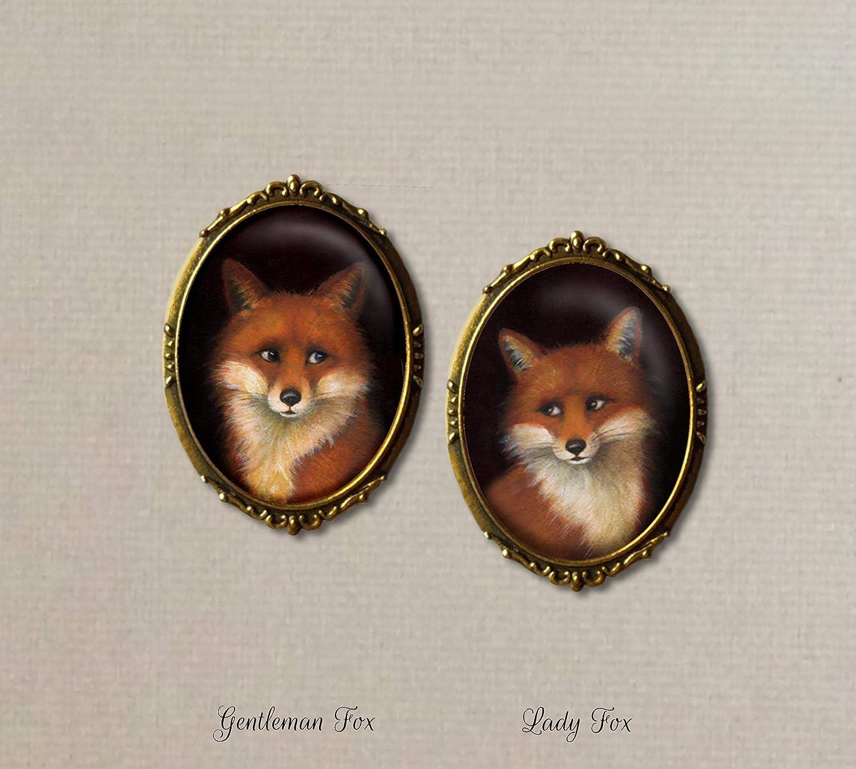 Fox art Fox Couple Fox Notecards Fox Stationary Fox Couple Cards Romantic