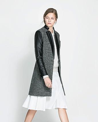 Zara perchero de pared de piel sintética de lana combinado ...