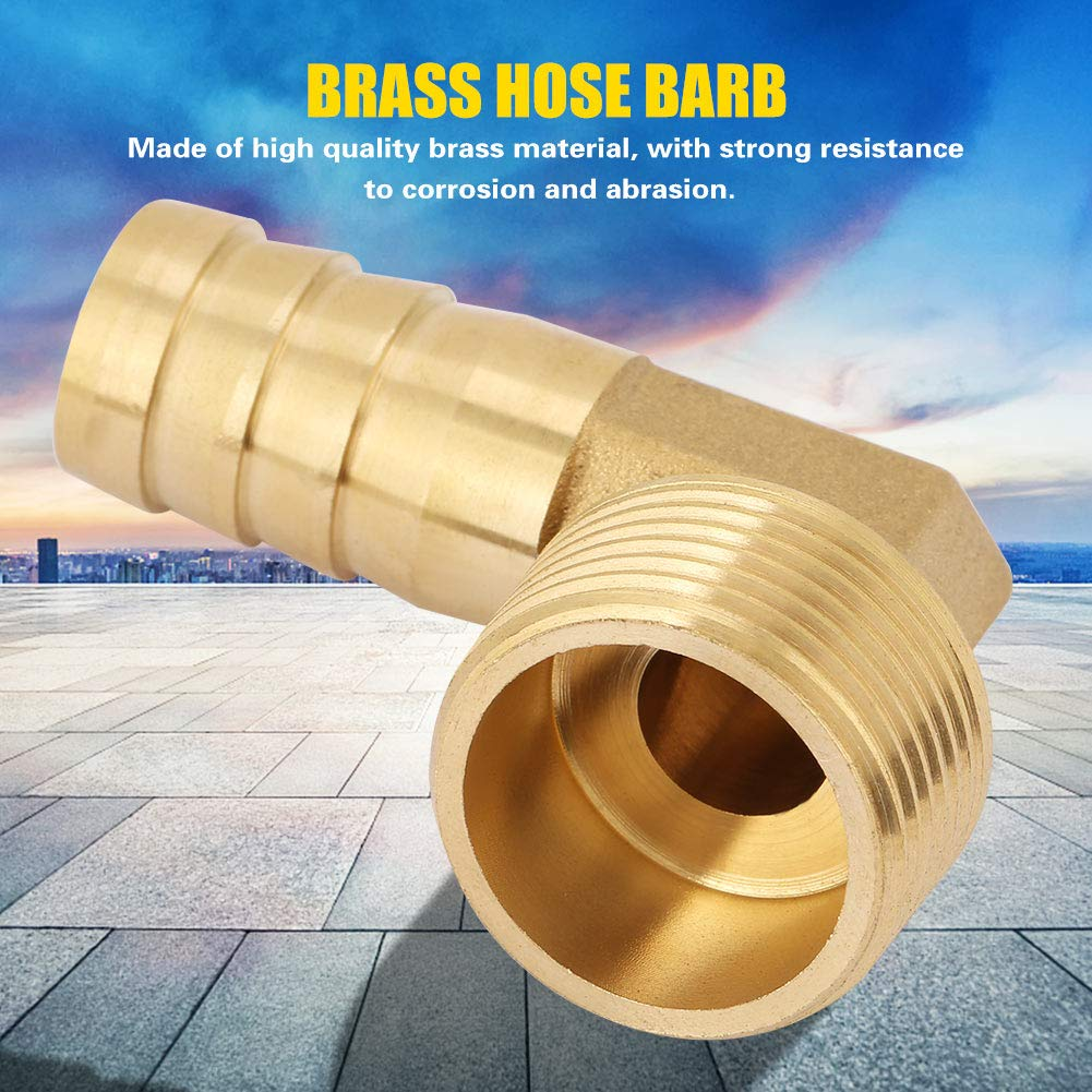1 Easy to Use Brass Convenient to Replace Wear Resistance for Water Hose Fitting Elbow Brass Pipe Fitting