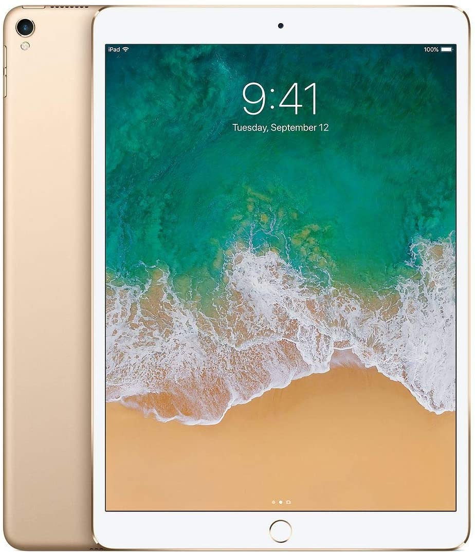 Apple iPad Pro 10.5in with ( Wi-Fi + Cellular ) - 256GB, Gold (Renewed)