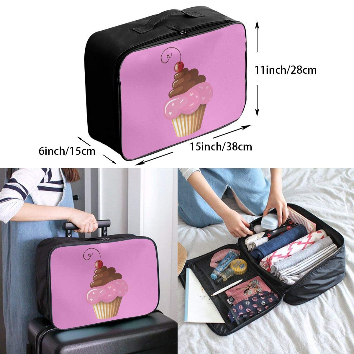 Travel Luggage Duffle Bag Lightweight Portable Handbag Cake Large Capacity Waterproof Foldable Storage Tote