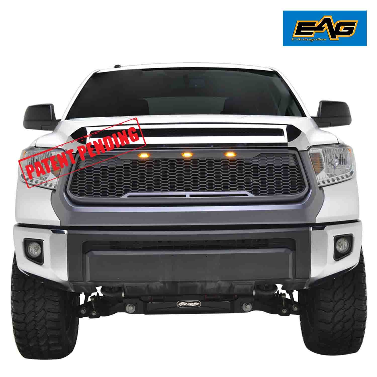 Eag Replacement Tundra Abs Grille Charcoal Gray With 2014 Wiring Diagram Lights Amber Led For 14 18 Toyota Automotive