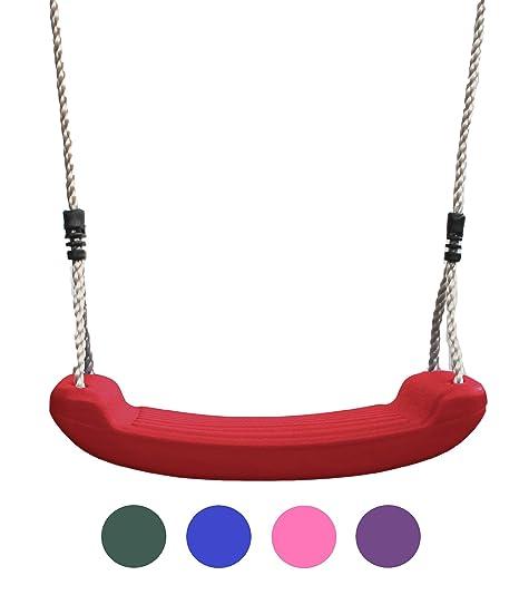 HIKS® Deluxe rot Kinder Garten Schaukel Sitz mit Verstellbare Seile im lieferumfang enthalten ideal für Schaukel Sets und kle