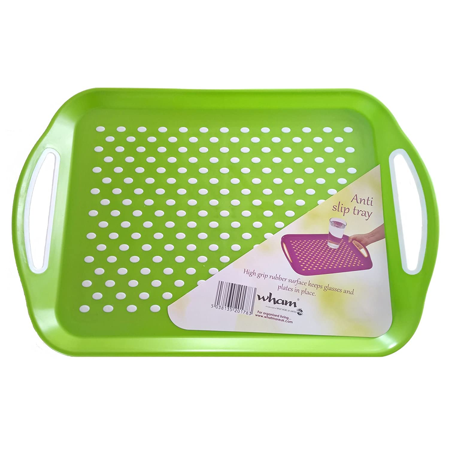 Amazon.com Anti Slip Plastic Serving Tray High Grip Rubber Surface Non-slip Padded Base - 4 colours red/blue/green/purple by Wham Paintings  sc 1 st  Amazon.com & Amazon.com: Anti Slip Plastic Serving Tray High Grip Rubber Surface ...