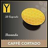 Yespresso Capsule Caffè Cortado Compatibili per Nescafe Dolce Gusto - Confezione da 32 Pezzi