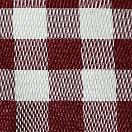 Ultimate Textile 3″ x 3″ Fabric Swatch of Polyester Checkered Burgundy and White