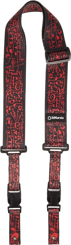 DiMarzio DD2243 Steve Vai Signature ClipLock, Negro/Rojo