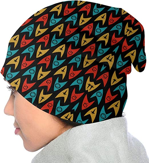 CicScottely Kids Winter Hat Knit Beanie Star Trek TOS Insignias Blue