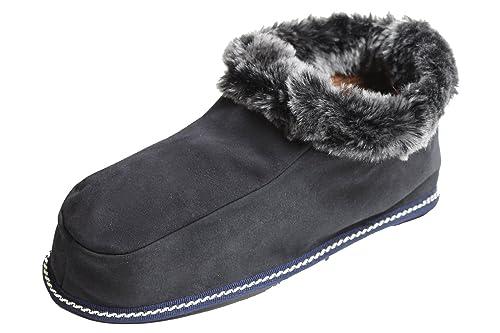 BRUBAKER pantofole babbucce comode e morbide per uomo donna in pelle  d agnello - a49c6e3b3bf
