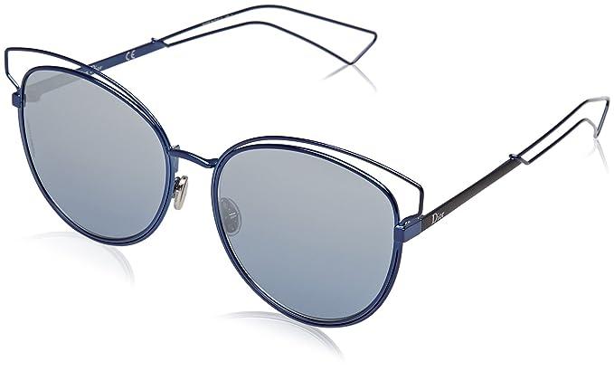 Christian Dior Damen Sonnenbrille DIORSIDERAL2 NK Mzp, Blau (Bluette Mtblack/Bluette Silv Grey Speckled Sf), 56