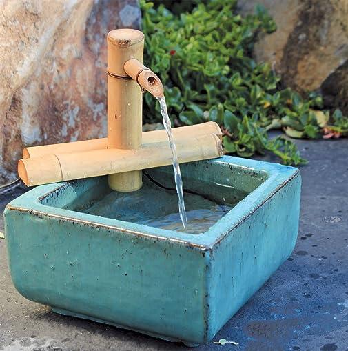 Bamboo Accents Zen Garden Water Fountain