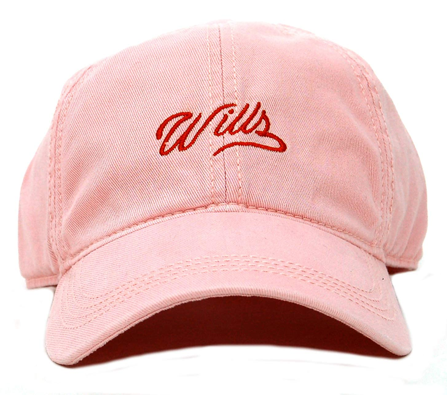 Jack Wills Enfield Wills Script Pink Baseball Cap in 100/% Cotton