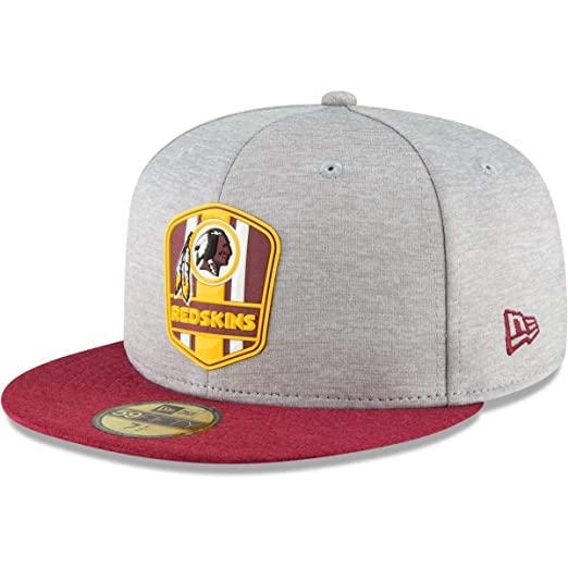 ffda4cb7fef Amazon.com  New Era Washington Redskins NFL Sideline 18 Road On Field Cap  59fifty Fitted OTC  Clothing