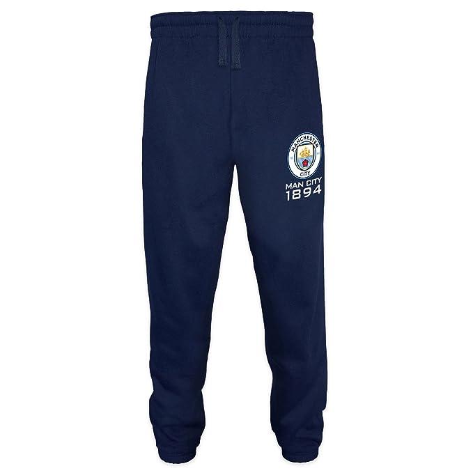 Manchester City FC - Pantalón de fitness para hombre - Forro polar ...
