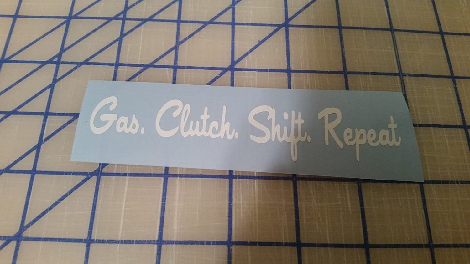 Gas Clutch Shift Repeat Drift Decal Window Euro Funny Car Vinyl Sticker,  White, Die Cut Vinyl Decal for Windows, Cars, Trucks, Tool Boxes, laptops,