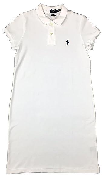 Ralph Lauren Polo Womens Pony Logo Mesh Mini Dress (X-Small, White)