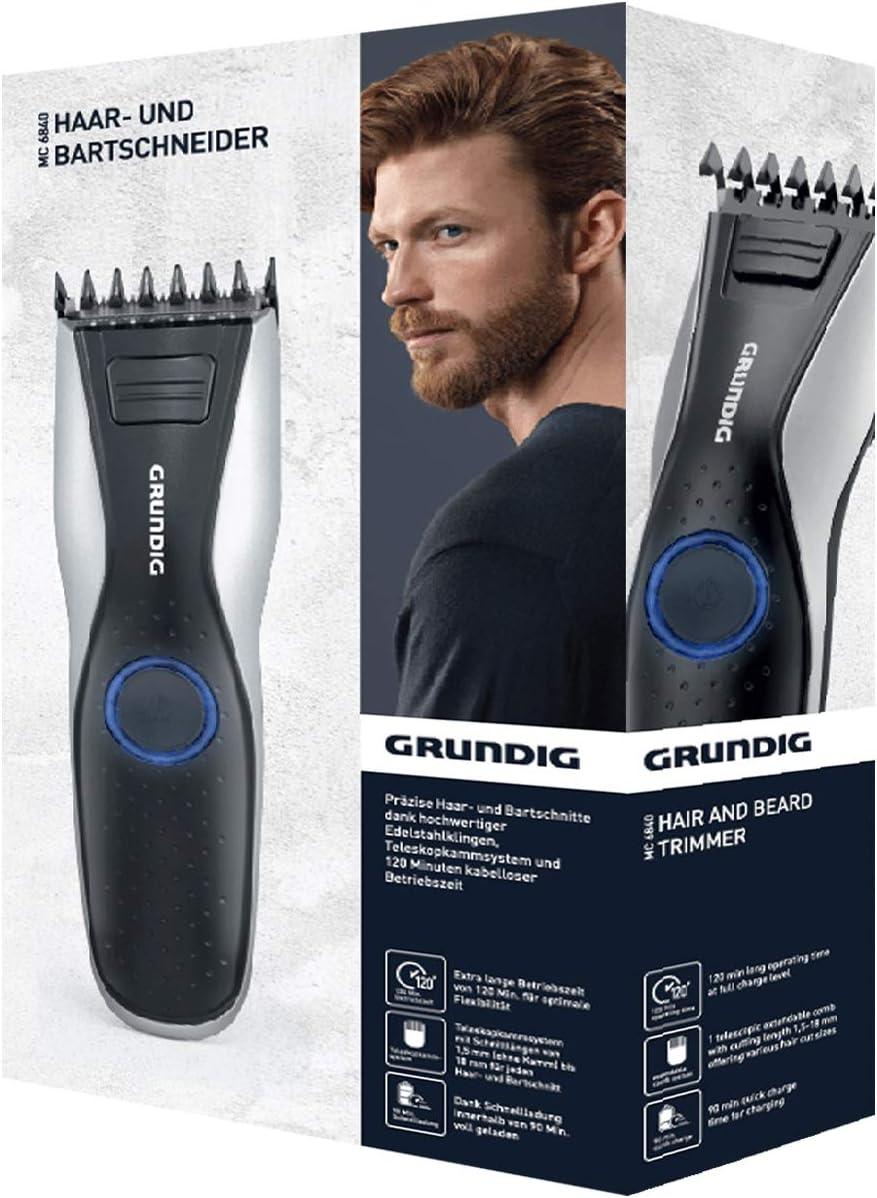 Grundig mc6840 mc6840 de pelo y barba, batería/Red, LED: Amazon.es ...