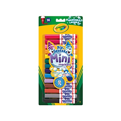 Crayola Pip-Squeaks Mini Washable Felt Tip Colouring Pens, Pack of 14 - Ideal for Little Fingers: Toys & Games