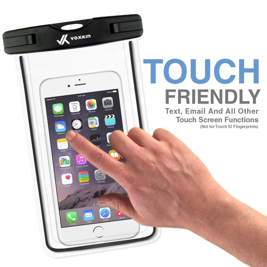 ⚡ [ Premium Quality ] Universal Waterproof Phone Holder with ARM Band & Lanyard - Best Grade Water Proof, Dustproof, Snowproof & Shockproof Pouch Bag Case for Apple iPhone, Android and All Smartphone by VK Voxkin (Image #4)