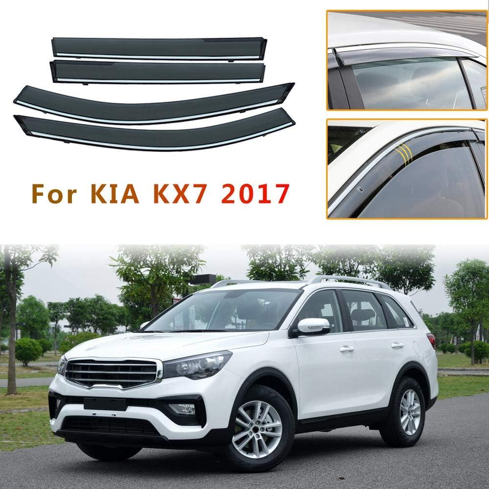 Jiahe per K IA KX1 2018 4PCS Deflettori dAria per Auto Deflettore Pioggia Vento Bloccare Sole Deflettori dAria Antiturbo