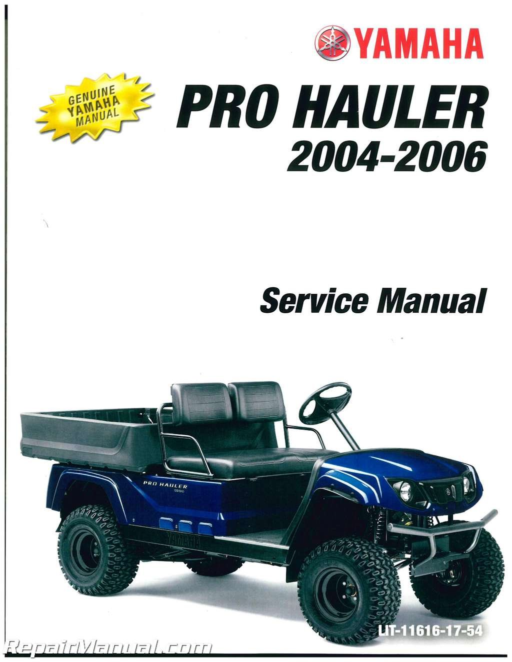 Download LIT-11616-17-54 2004 2005 2006 Yamaha YXP1000 YXP700 PRO HAULER Service Manual ebook