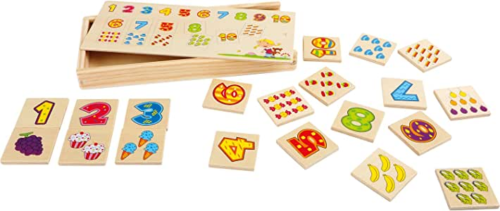 Small Foot- Juego de Memoria Números Puzzles Multicolor (1): Amazon.es: Juguetes y juegos