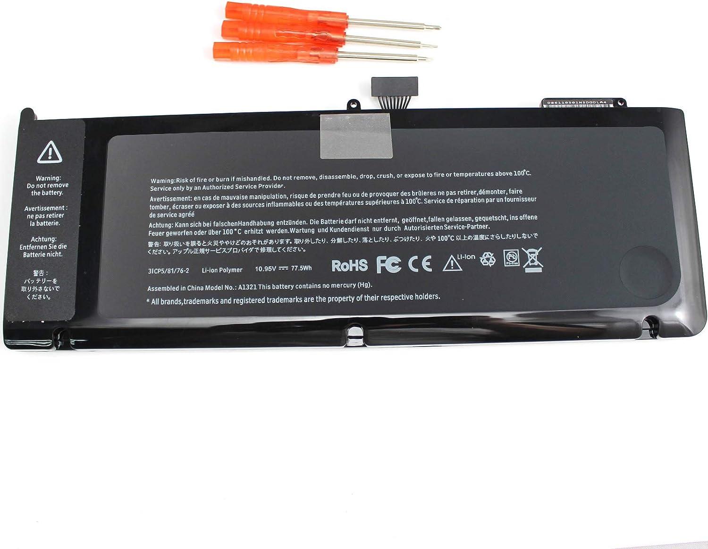 "A1321 A1286 Laptop Battery for MacBook MacBook Pro 15"" inch (Mid 2009 & 2010 Version) MB985 MB985LL/A MB986 MB986LL/A MB986J/A MC118 MC118LL/A MC373LL/A"