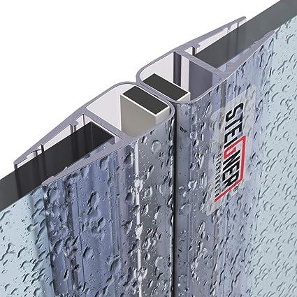 STEIGNER Set di Guarnizioni Magnetiche per Box Doccia UKM02 2 pezzi 6//7//8 mm 186 cm 180 gradi