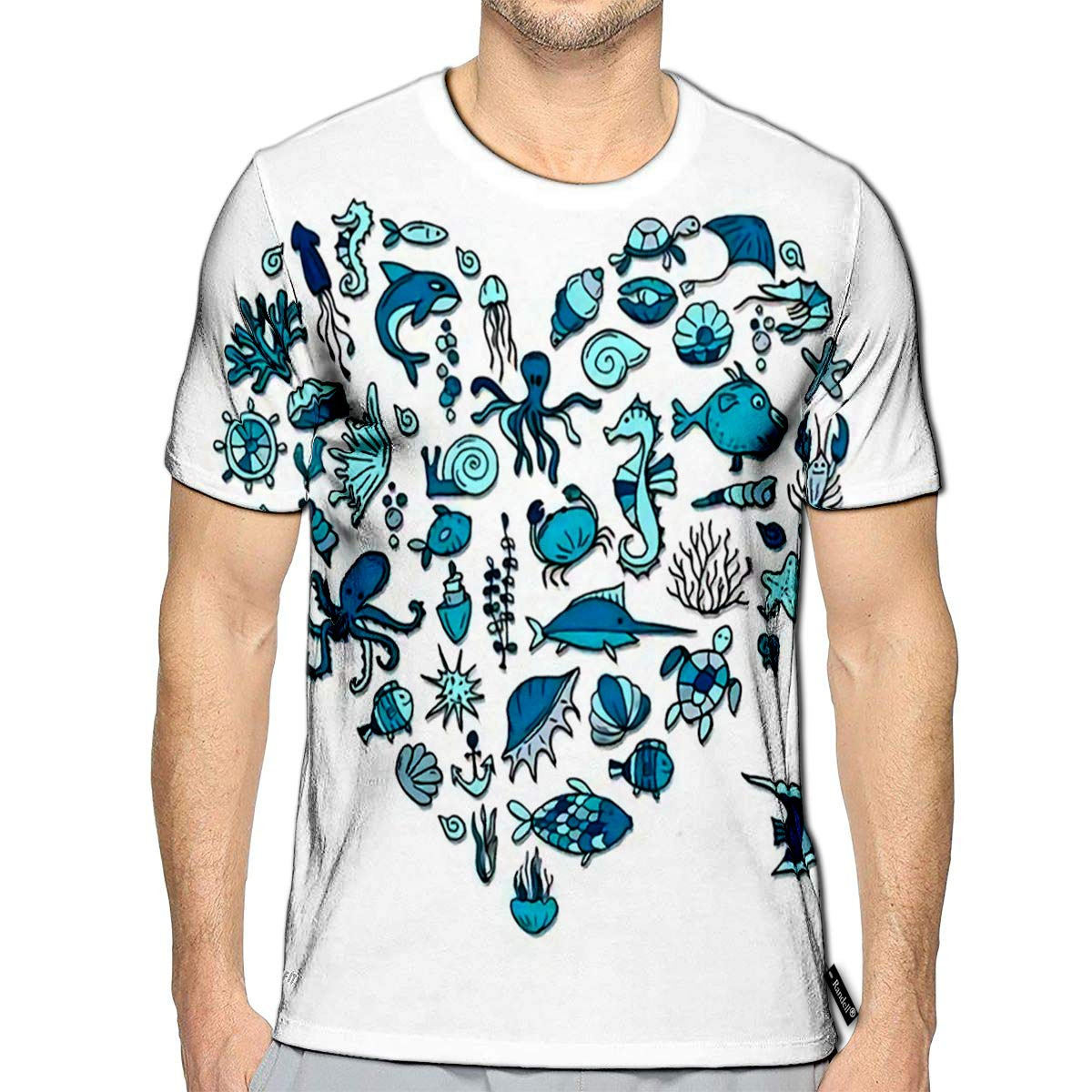 3D Printed T-Shirts Watercolor with Jams and Fruit Short Sleeve Tops Tees