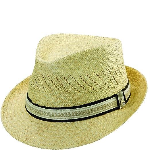 fa302dc0 Tommy Bahama Men's Grade 3 Panama Fedora Vent Hat, Yellow, S/M at ...