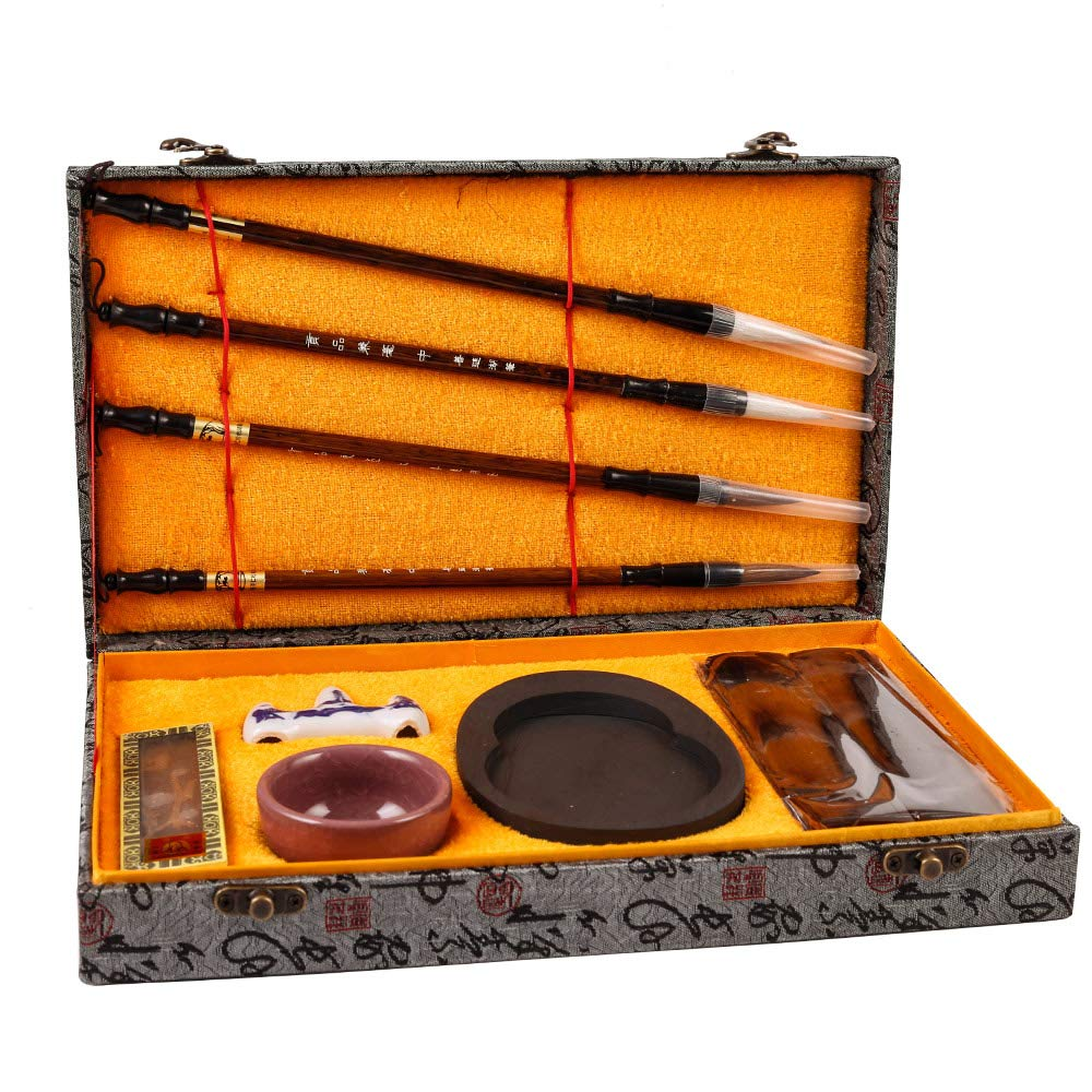 Artecho Chinese Calligraphy Brushes Gift Chinese Brushes Set 10 Pces for Beginners Calligraphy Sumi Brush