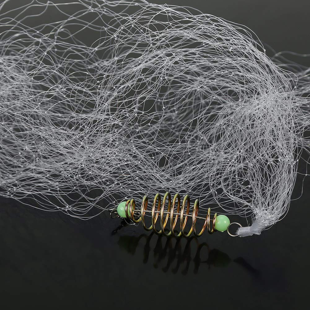 Ciglow 4 st/ücke Fischernetz Durable Nylon Kupfer Fr/ühling Fischernetz mit Leuchtperlen Zubeh/ör f/ür Shoal Fishing