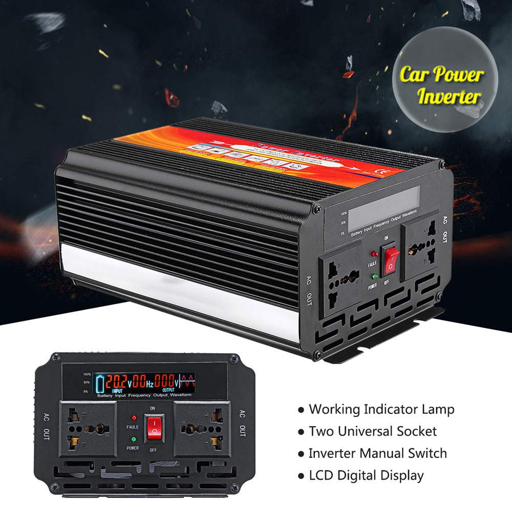 Alelife 8000W Car Power Inverter 12/24V to 110/220V Sine Wave Converter with Blade Fuses 2pcs Blade Fuses Overload Protection, Overheat Protection by Alelife (Image #8)