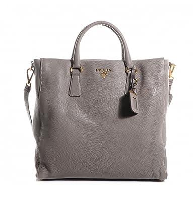 fa4cebd79406 Prada Women's Gray Vitello Danio Shopping Tote 1BG075: Handbags: Amazon.com
