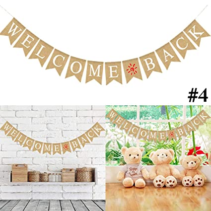 Baby Shower Banner Coxeer Lovely Hanging Garland Burlap Welcome Home Party Favors