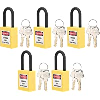 Cadeado de bloqueio, 5 conjuntos de cadeado de segurança prático e compacto para uso industrial para bloquear estações…
