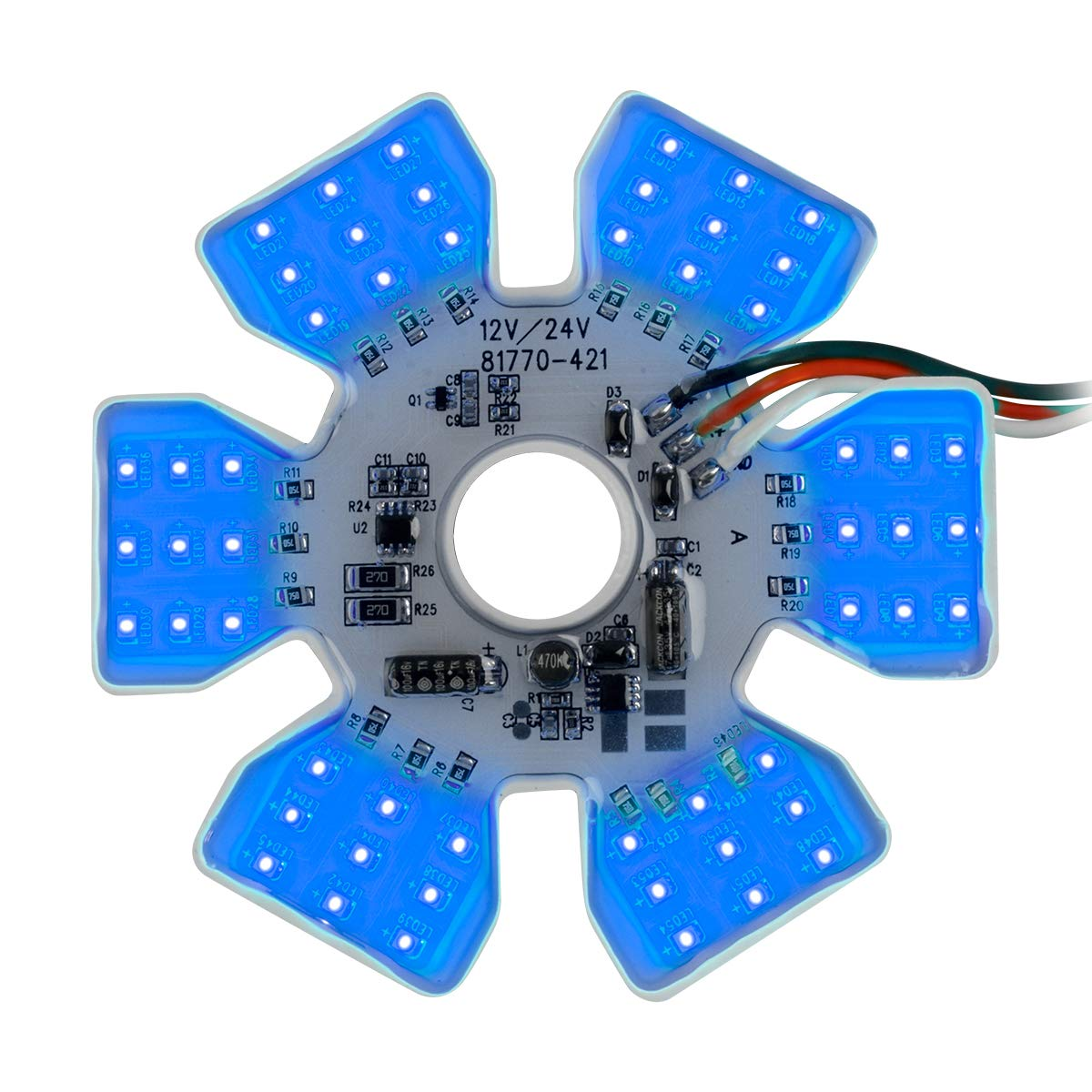 GG Grand General 81777 Light (Blue Ultra Thin Air Cleaner Hex 54 LED Dual Function)