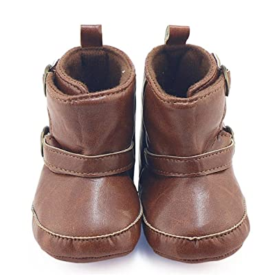 AutumnFall Winter Baby Faux Leather Martin Boots Soft Sole Crib Shoe
