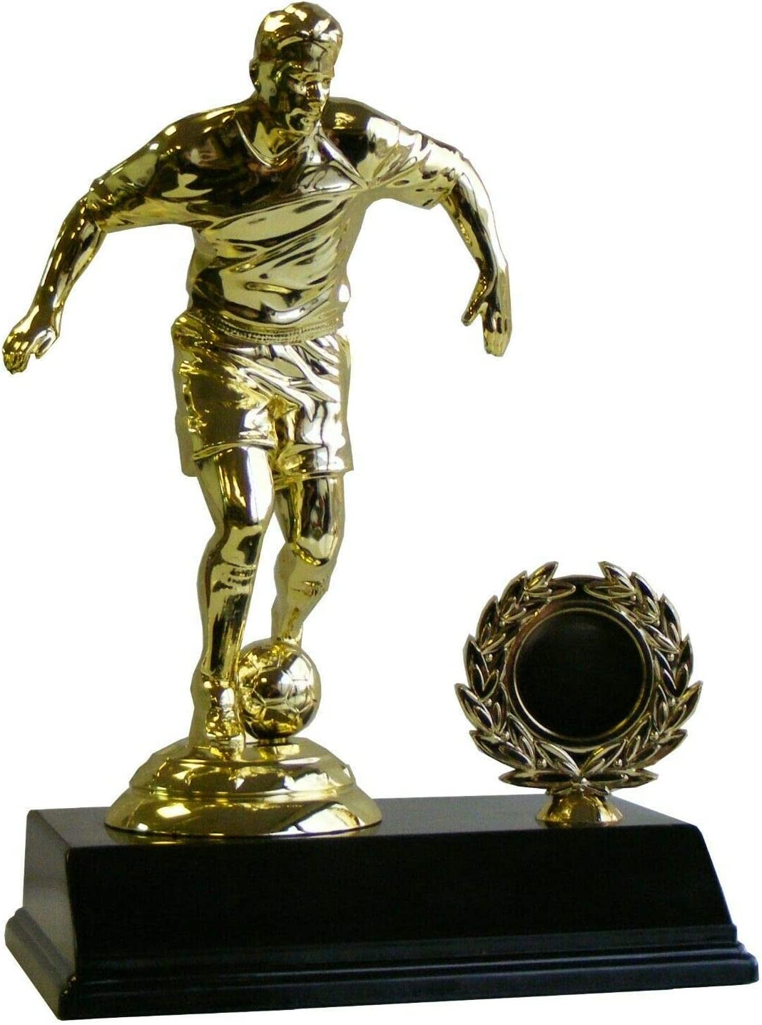 GOLD 3D FOOTBALL BOOT /& BALL TROPHY AWARD 13.5CM ***FREE ENGRAVING***