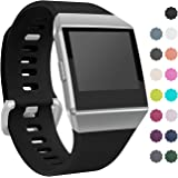 For Fitbit Ionic Watch Bands, Wepro Replacement Sport Strap for Fitbit Ionic Smartwatch, Buckle, 15 Colors, Large, Small