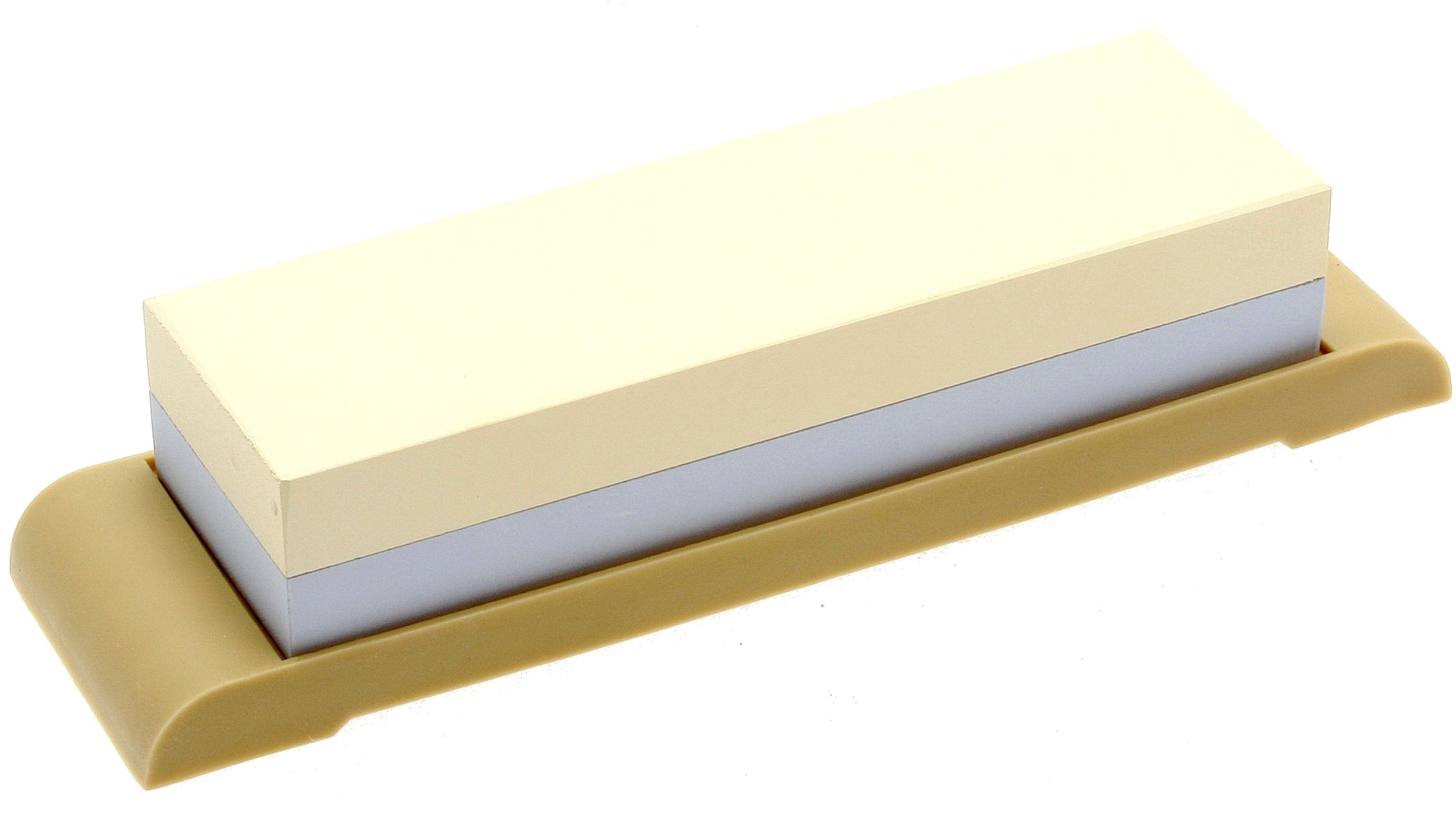 Suehiro Japanese Sharpening Stone, Dual-sided #1000 and #3000 Grit with Rubber Base, Compact
