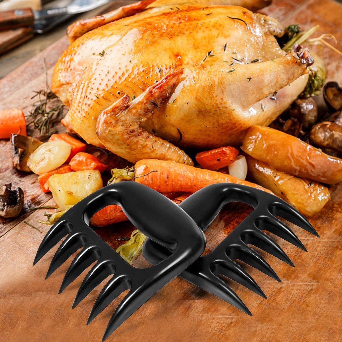 New Shred and Cut Meats Handle Essential for BBQ Pros King77777 BBQ Meat Claws Pull Handler Easily Lift Ultra-Sharp
