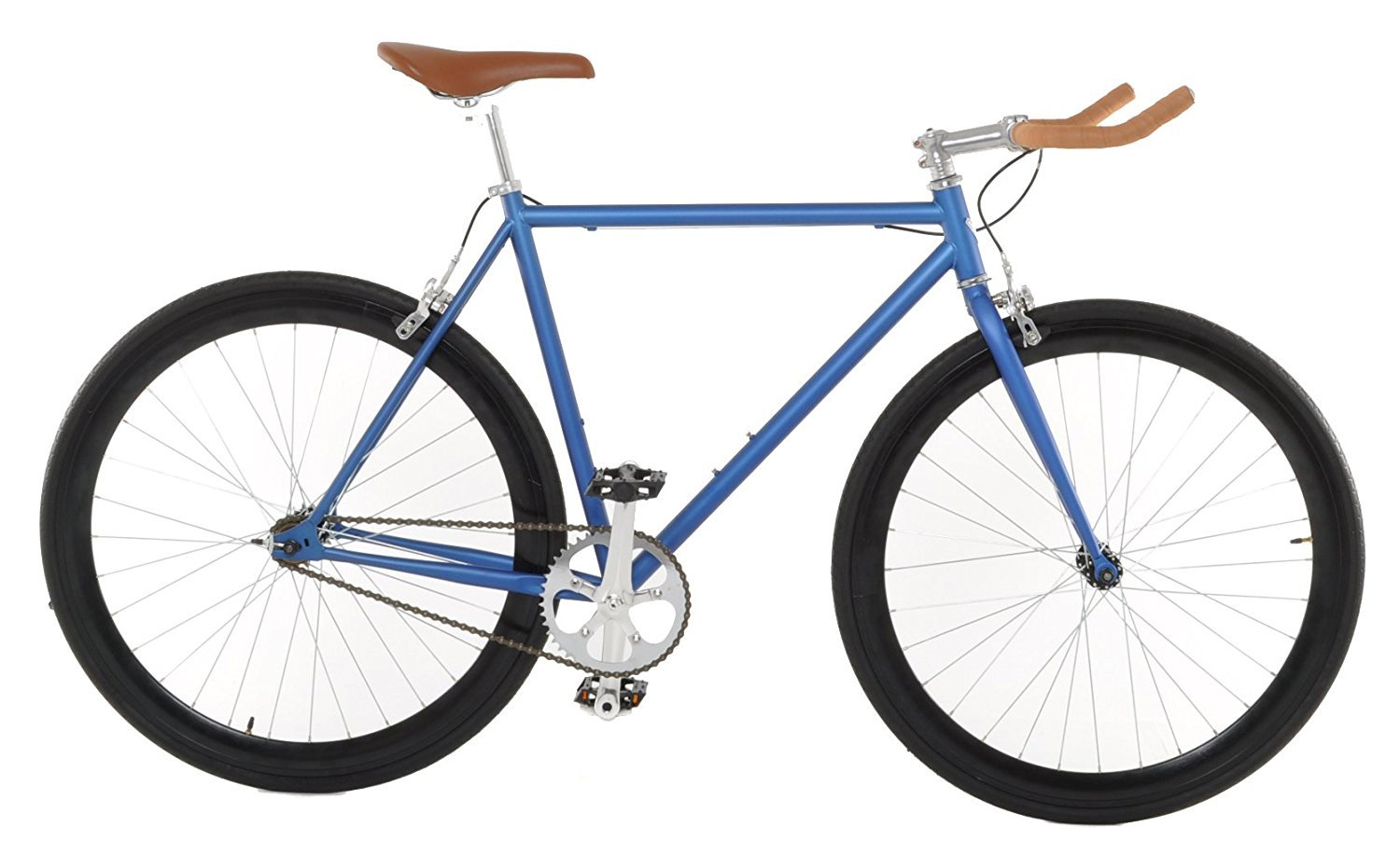 Vilano Edge Fixed Gear Single Speed Bike Medium Matte Blue [並行輸入品] B075JSFC2C