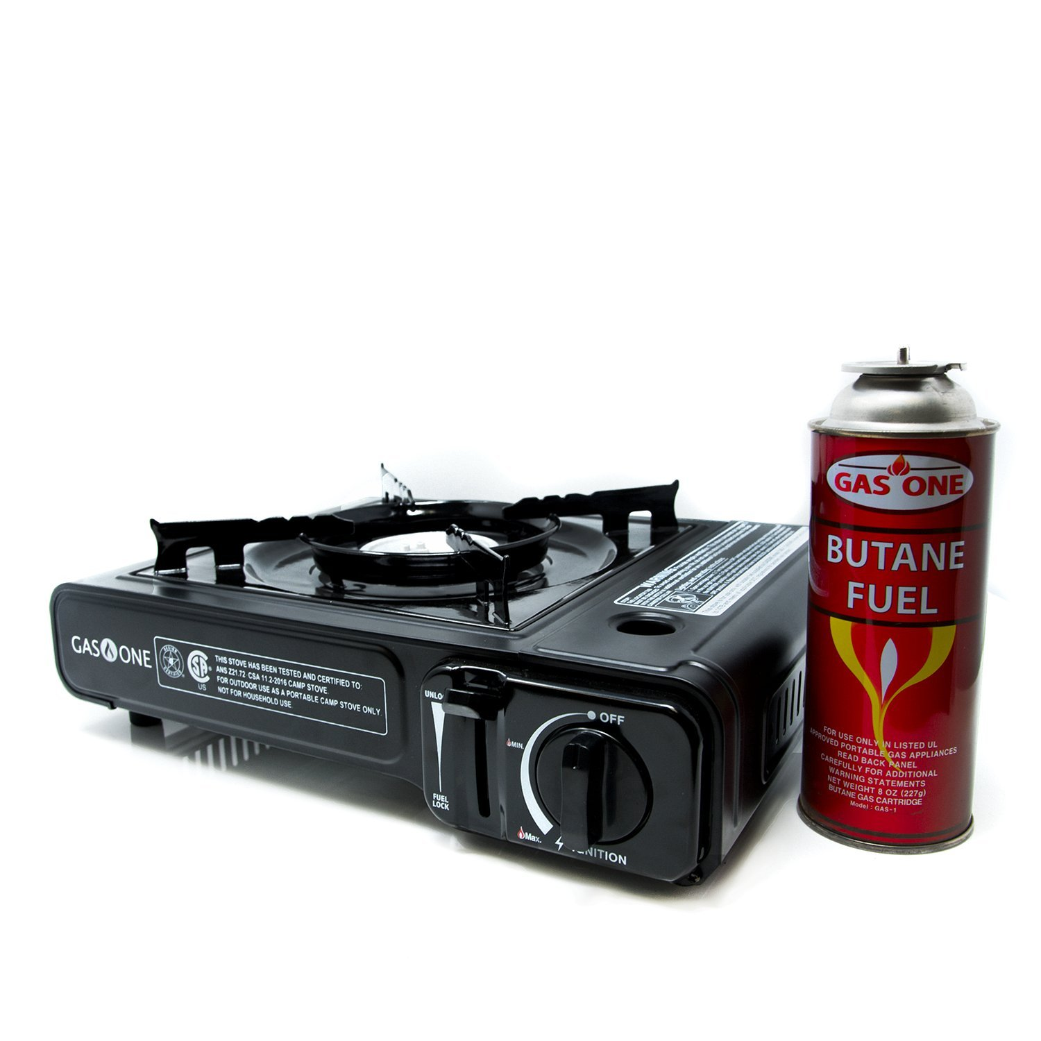 Gas One Gs 3000 Portable Stove With Carrying Case Hi Cook 9 000 Btu Csa Approved Black Camping Stoves Sports Outdoors