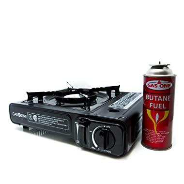 Gas ONE GS-3000 Portable Gas Stove with Carrying Case, 9,000 BTU, CSA Approved, Black