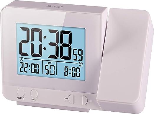 Think Gizmos Reloj Digital Atómico Proyector Led con Medidor de ...